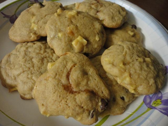 choc caramel apple cookies