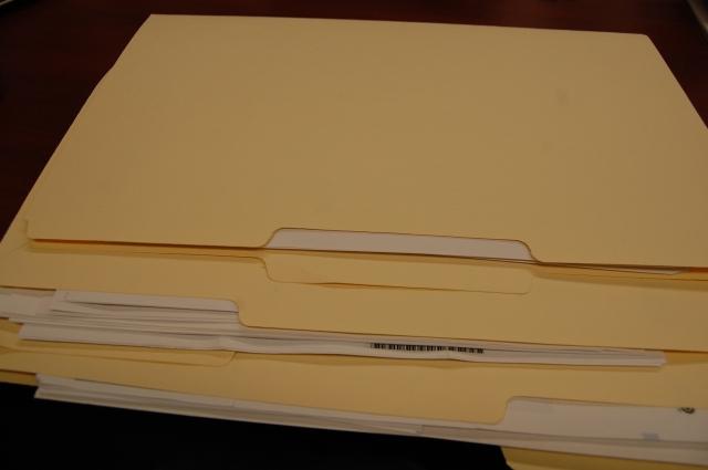 financial folders
