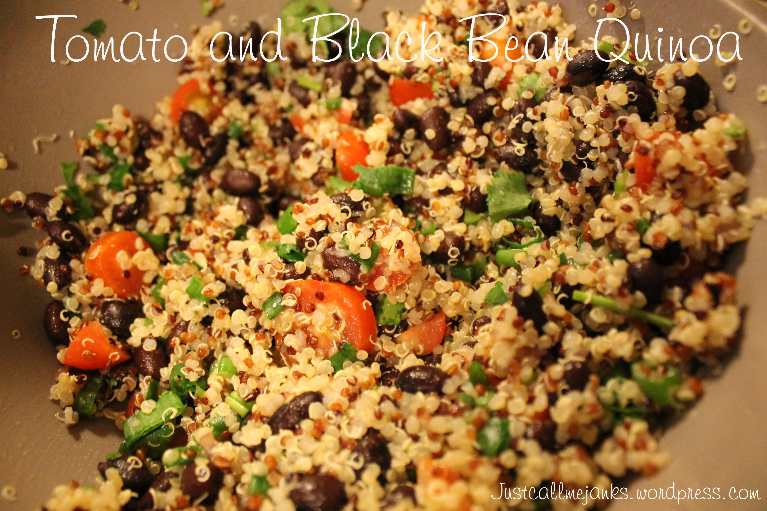 Tomato and Black Bean Quinoa (adapted from Epicurious.com )