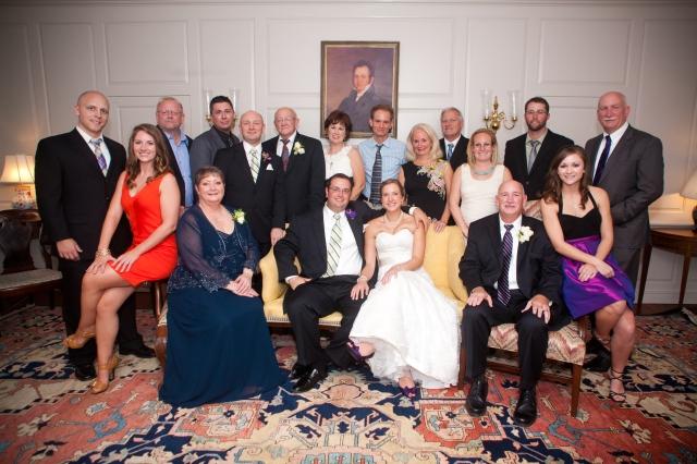 A family photo wedding