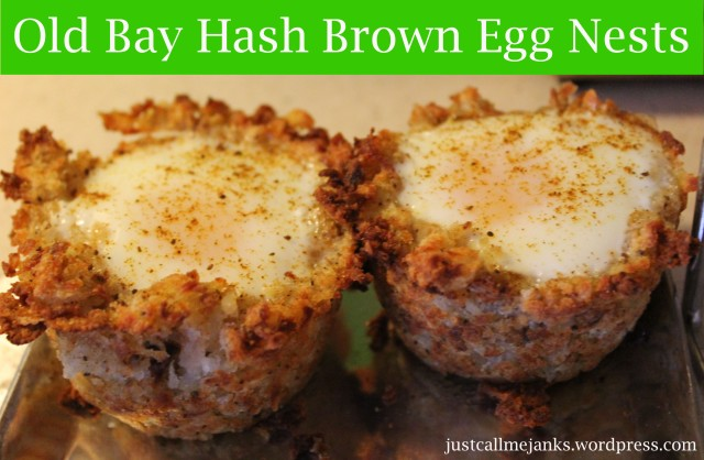 Old bay hash brown egg nests