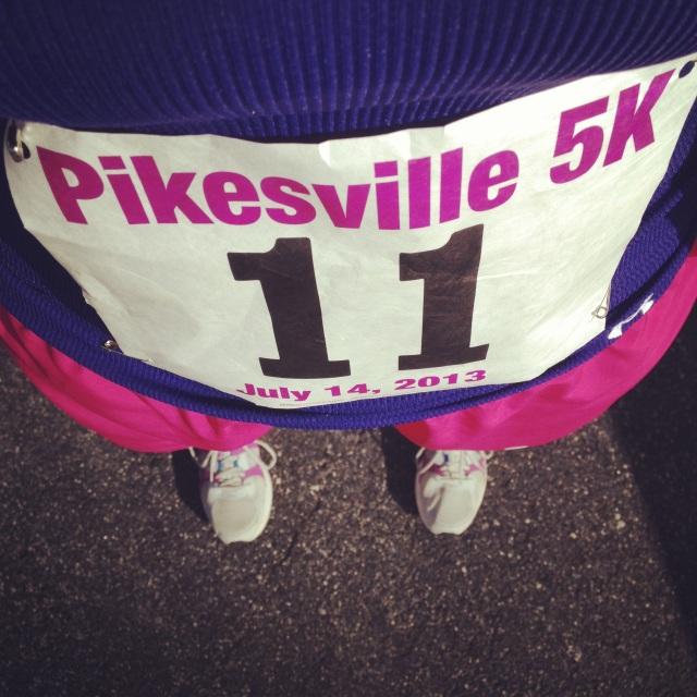 Pikesville 5K bib