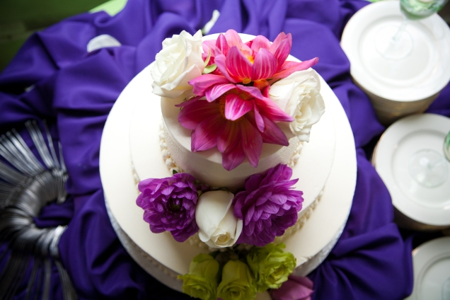 wedding cake - top view