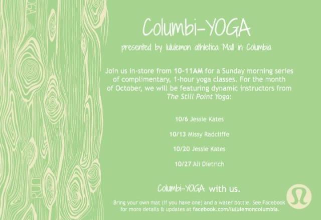 columbia yoga