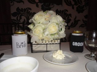 bride & groom koozies