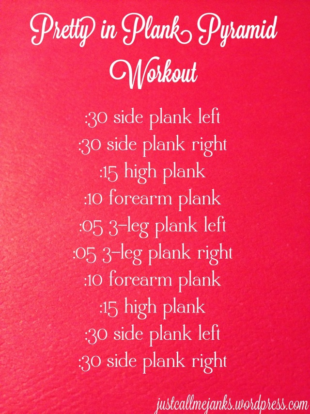 pretty in plank workout
