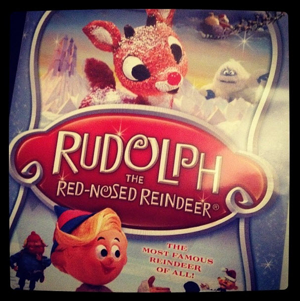'Rudolph with your nose so bright, won't you guide my sleigh tonight..'