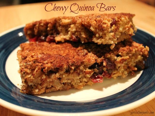 chewy quinoa bars