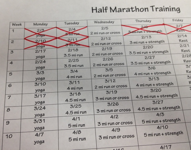 half training 2-11-14