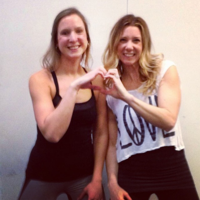 Teamed up with Rachel for a rocking' Barre Fusion class!