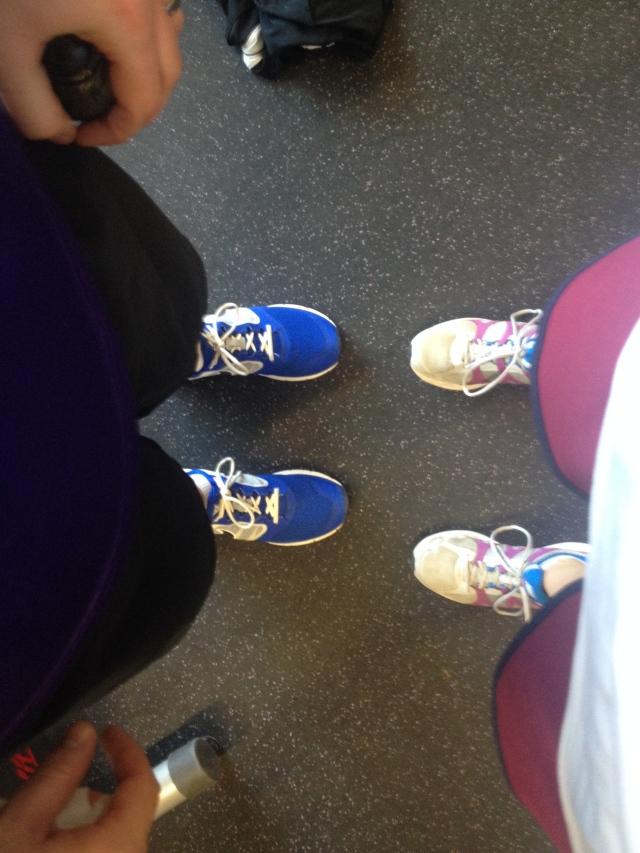 His & Hers workout shoes