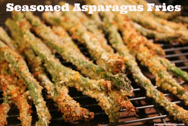 seasoned asparagus fries