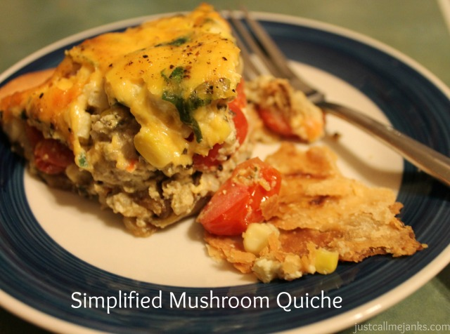 simplified mushroom quiche