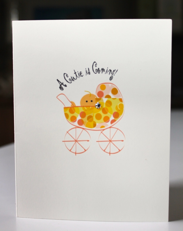 first baby card