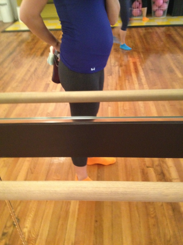 belly at the barre