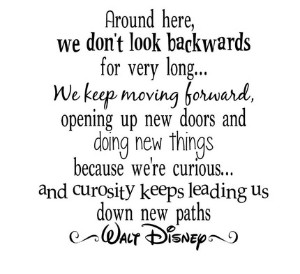 we dont look back.disney