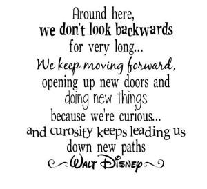we dont look back.disney