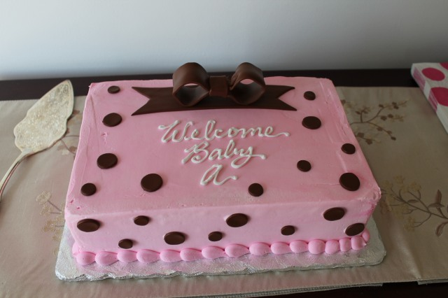Baby A+ Shower 1 - cake