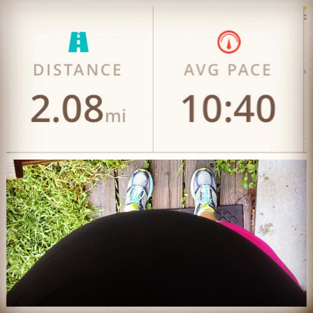 10min mile 2nd trimester